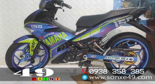 Sơn Tem Đấu Chuyển Màu Xe Yamaha Exciter 150