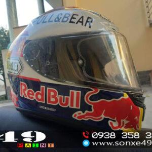 Nón Bảo Hiểm Full Face Sơn Tem Phong Cách Red Bull